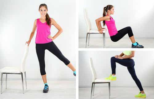 6 Exercises That You Can Do With a Chair to Get Rid of Love Handles