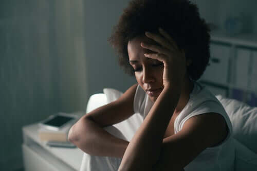 A woman stressed out about your relationship.