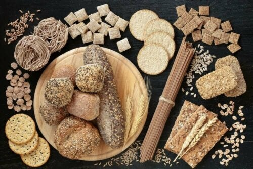 An array of whole grain products.