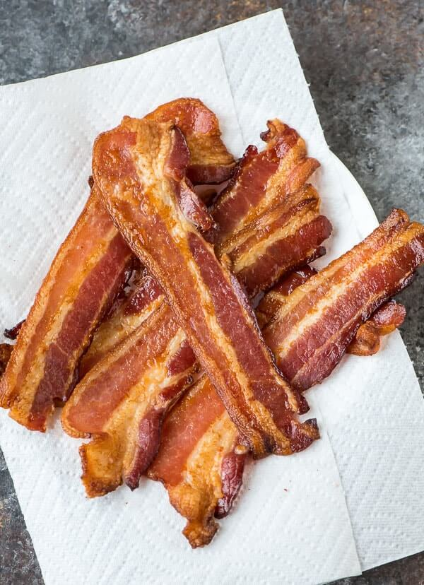 Some fried bacon.