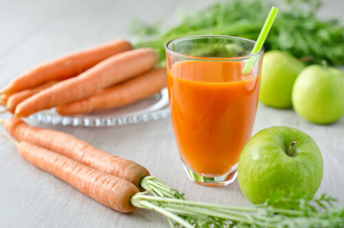 Some carrot and celery juice.
