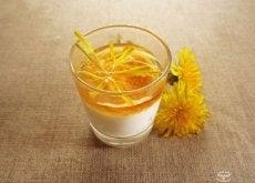 A glass of dandelion tea
