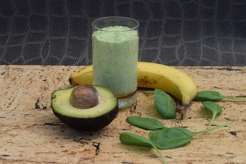 Delicious and nutritious avocado smoothie in the morning