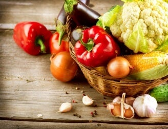 Vegetables and spices for eating healthy