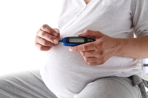 Pregnant woman with gestational diabetes