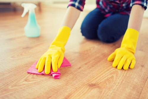 using cleaning products