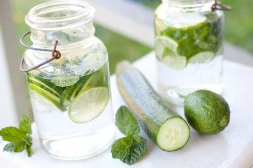 Cucumber water.