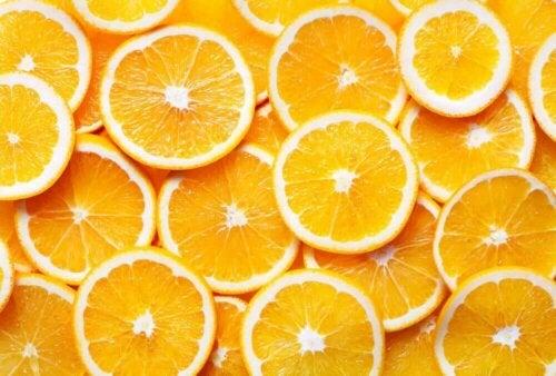 Some orange slices.