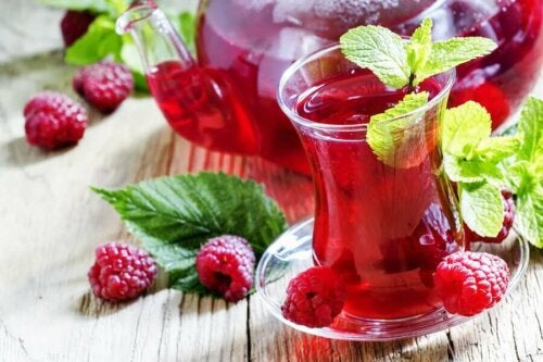 Raspberry leaf infusion.