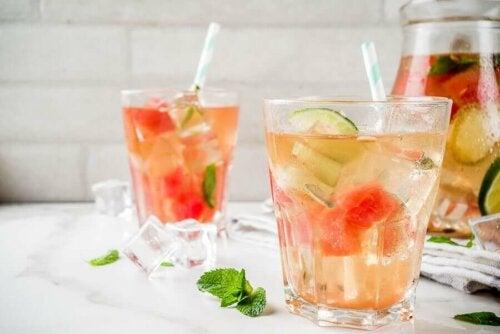 Watermelon rind tea.