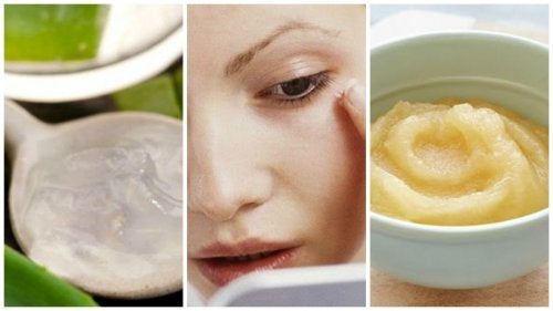 Homemade Apple, Grape, and Aloe Mask for Wrinkles