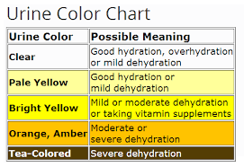 What the color of urine ays about your health