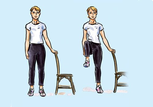 Tone your legs with a chair.