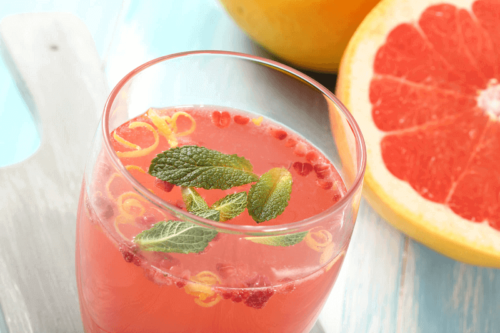 Some grapefruit juice which is one of many alternative treatments for fatty liver.