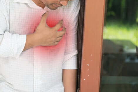 A man with chest pain.