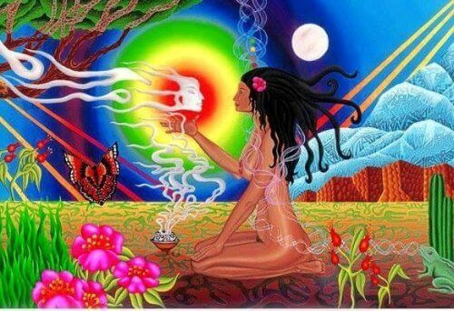 Medicine woman discovering herself