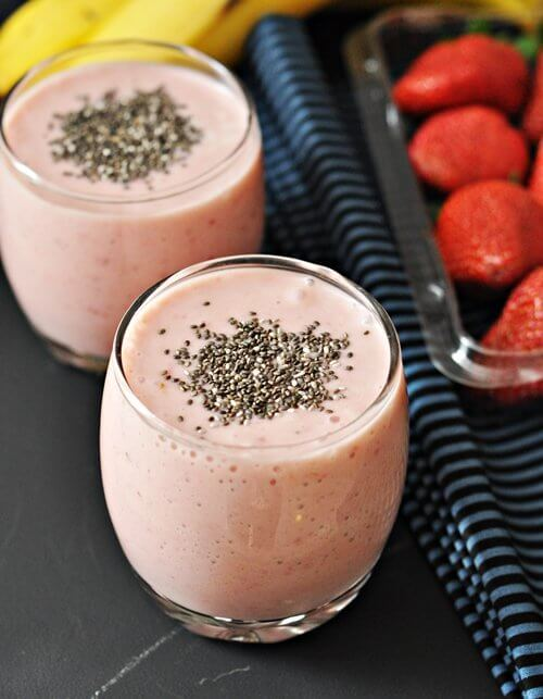 A natural strawberry smoothie.