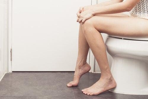 person on toilet