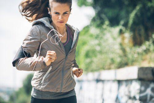 Woman going running