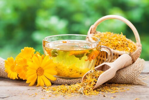 Marigold and mallow can help with vaginal dryness and its symptoms