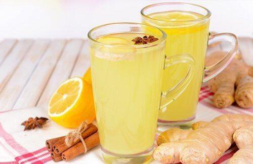 Orange ginger juice.