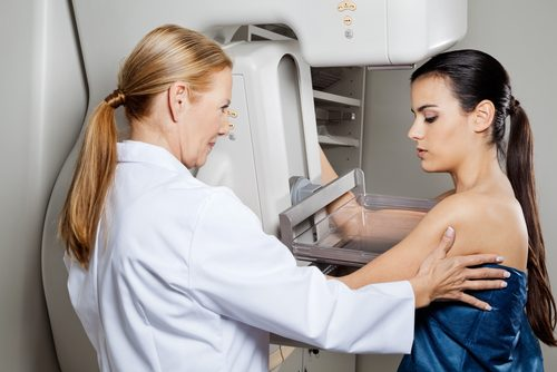 Doctor performing breast exam new cancer medication