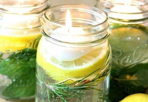Citrus and citronella candles