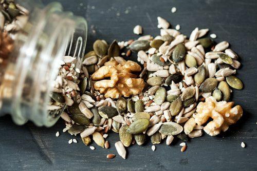 A mix of seeds