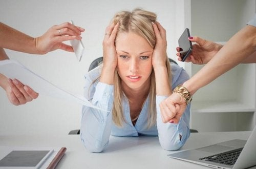 Woman under a lot of stress