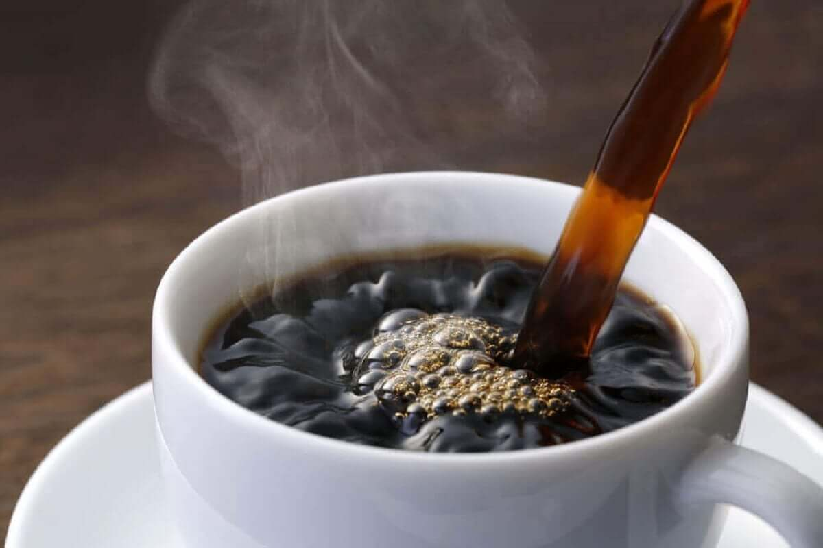 A fresh cup of coffee.