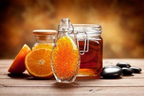 Orange and honey.