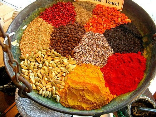 A selection of spices.