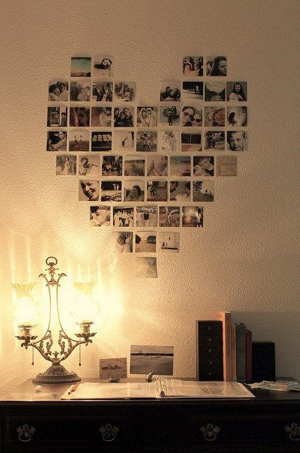 Photographs in a heart shape