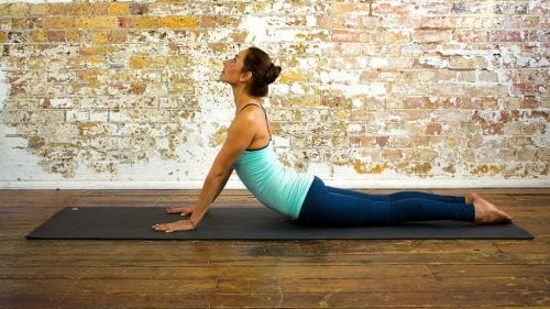Cobra pose can help you get a flat stomach