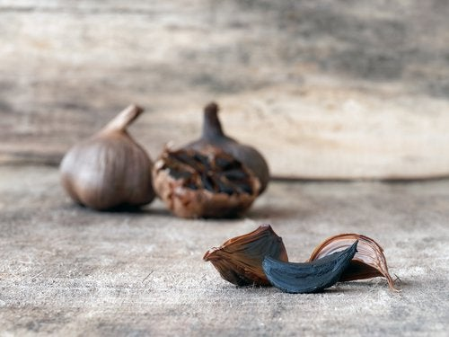 cloves of black garlic