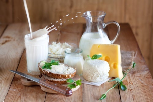 Different dairy products
