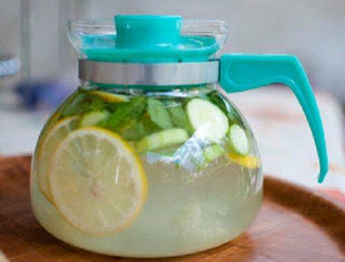 lemon cucumber and ginger drink