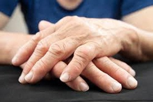 Wrinkly hands.