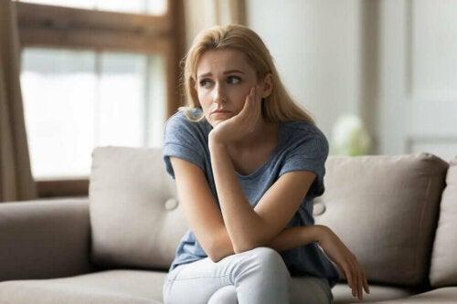 A seemingly sad woman.