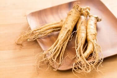 Ginseng in a bowl.