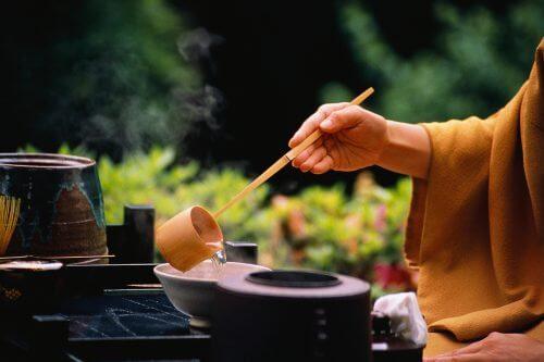 A person practicing Zen