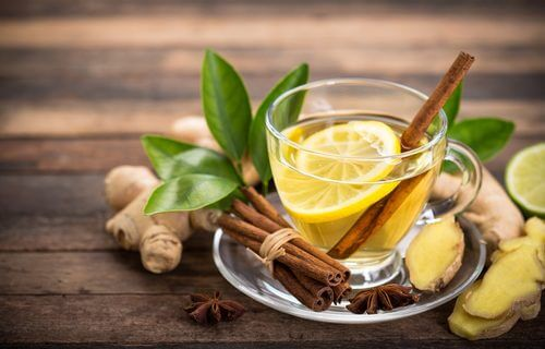 A ginger tea with cinnamon.