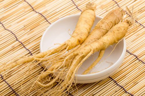 Some ginseng root.