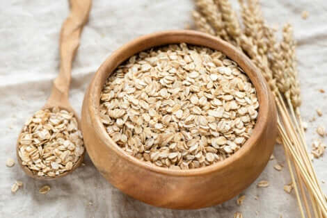 Oats in a bowl.