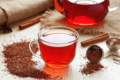 A cup of rooibos tea.