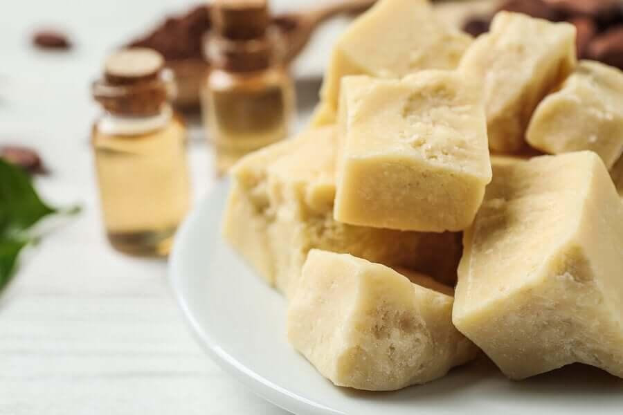 Chunks of shea butter.