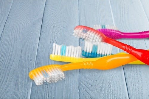 Toothbrushes should be replaced often covered in germs