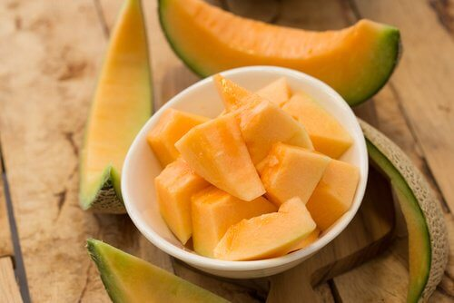 Melon fruit is good to eliminate wrinkles