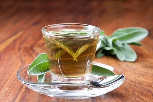 Cup of sage tea