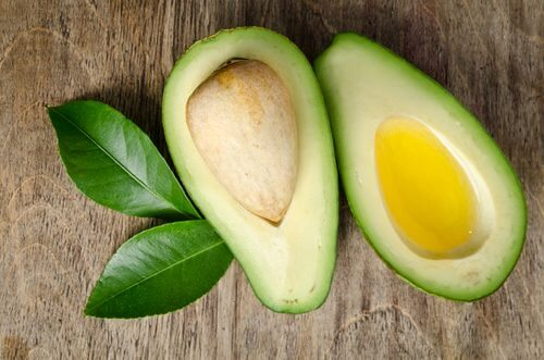 Avocado with olive oil